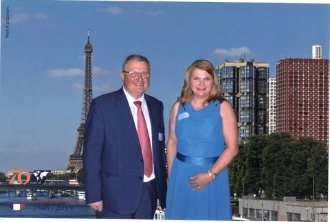 Denise Potosky, left, and Arnaud Roujou de Boubée, in Washington, D.C.