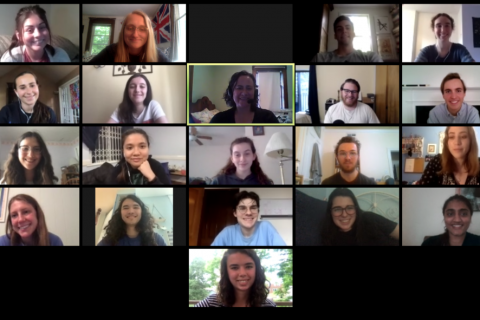 Students participating in the City Semester program met via Zoom with Solar Ambassadors from across the state