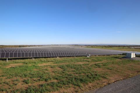 The Nittany 1 solar array, one of three solar farms that make up the 70-megawatt solar array in Franklin County
