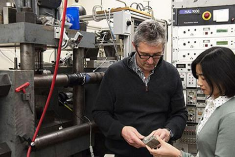 Chris Marone, professor of geosciences, works on safe and efficient geothermal exploration and energy production