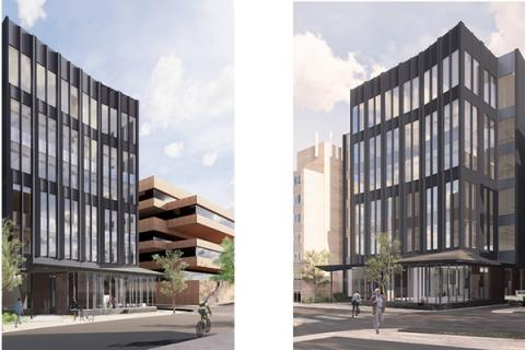 The James Building replacement on Burrowes Street in downtown State College will provide 85,000 square feet.