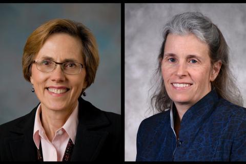 Penny Kris-Etherton, left, and Susan Trolier-McKinstry.