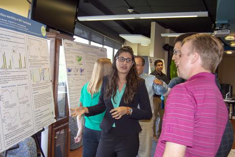 Maria Morales, in the Department of Physics at the University of Puerto Rico, looked at the impacts of sea surface temperatures