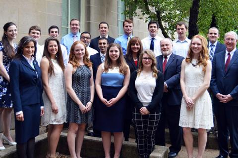 Sixteen students were inducted as laureates of the Earth and Mineral Sciences Academy for Global Experience