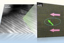 A long-range ferroelectric domain with nanoscale structure heterogeneity (4-8 nm) is evidenced by high-resolution TEM.