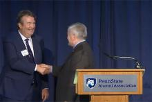 President Eric Barron introduced Edward C. Dowling Jr., a graduate of the College of Earth and Mineral Sciences