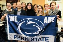 Members of Penn State's Geoinformatics and Earth Observation laboratory (GEOlab)