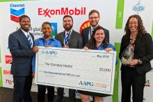 The Penn State team that took third place at the international Imperial Barrel Award Competition