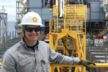 Andrew Vislosky, a senior majoring in petroleum and natural gas engineering at Penn State