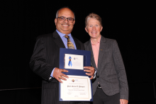 Sarma Pisupati, professor of energy and mineral engineering was inducted as an ACS Fellow at the 2018 national fall meeting.