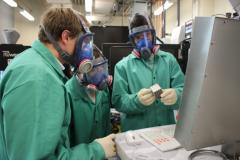 Students work in one of the University's additive manufacturing labs.