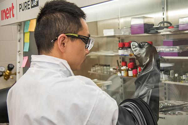 Congcong Wu works with materials that can be inserted into next generation solar cells to improve their efficiency