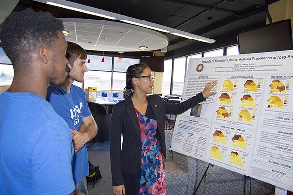 Maggie Li looked at the impact of air quality on asthma across Senegal in the Research Experiences for Undergraduates program