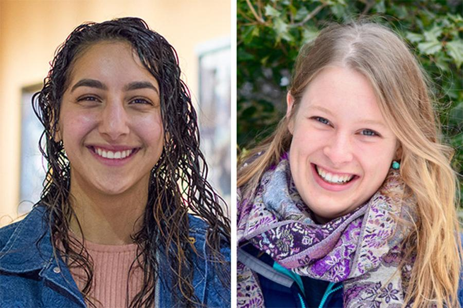 Fatimah Altarrah, left, and Madeline Nyblade have been named student marshals