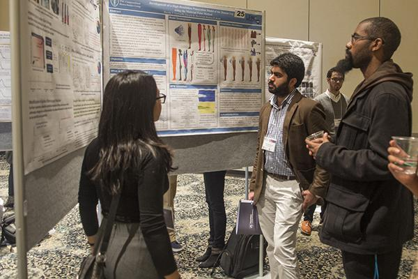 Students present their research during the 14th annual College of Engineering Research Symposium.