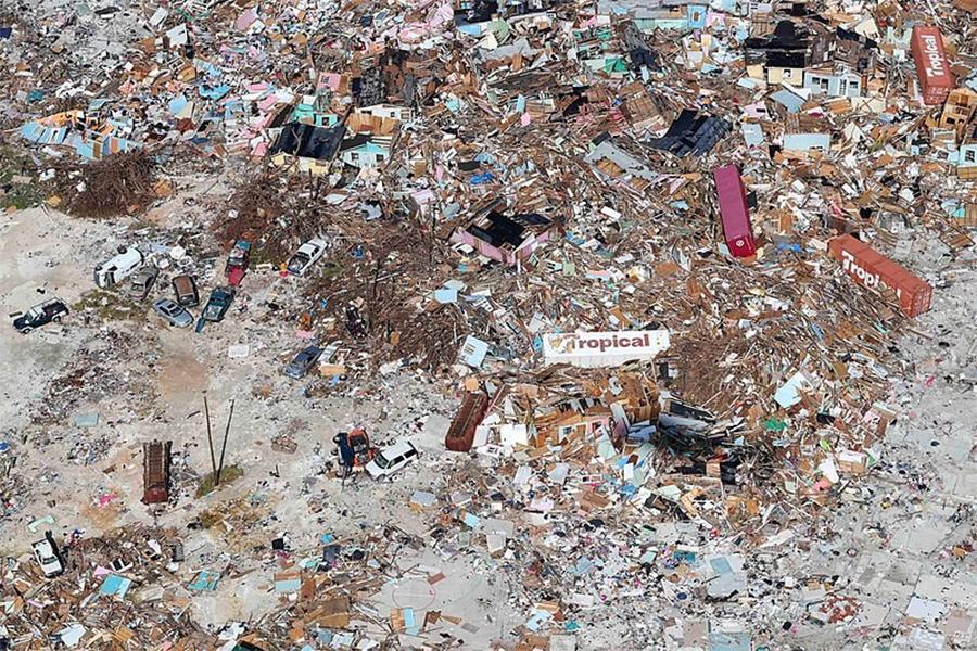Devastation after natural disaster