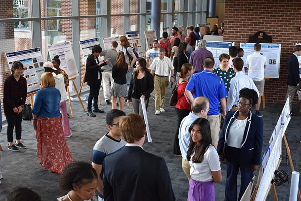 Undergraduate students presented their summer research projects at the Research Experiences for Undergraduates Symposium.