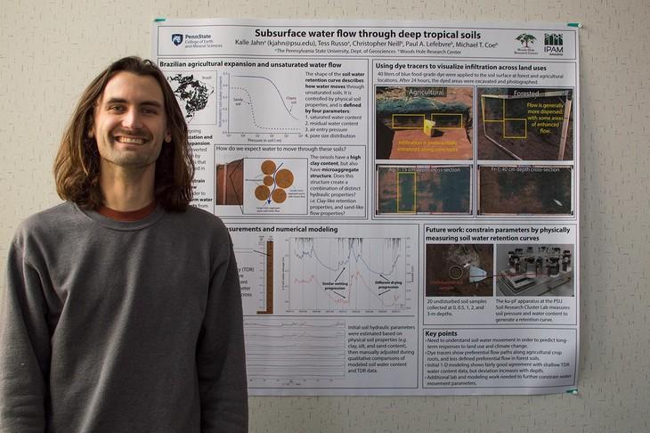 Kalle Jahn, geosciences graduate student