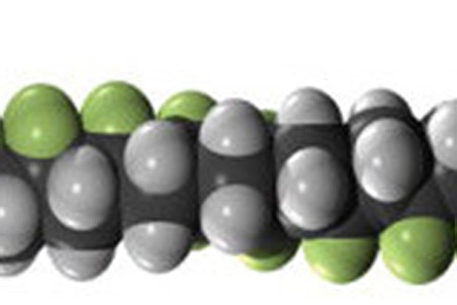 ferroelectric poly(vinylidene fluoride-co-trifluoroethylene) molecule