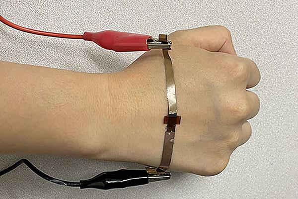 A wearable pressure sensor made with lasers