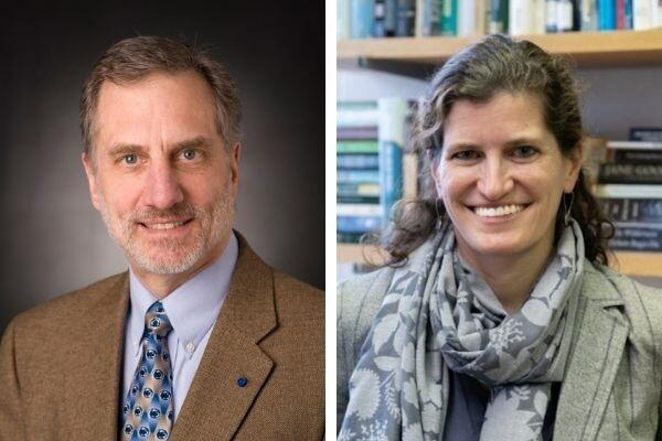 Bruce Logan and Erica Smithwick, a distinguished professor of geography
