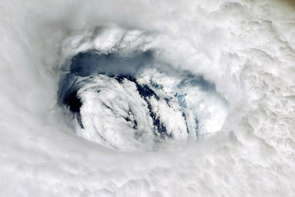 NASA Astronaut Nick Hague captured an image of Hurricane Dorian from the International Space Station