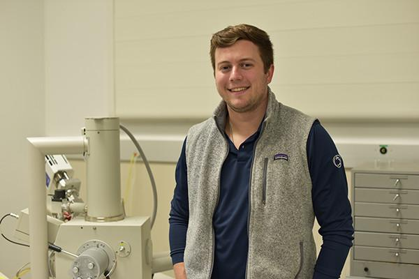 James White, a senior in the College of Earth and Mineral Sciences, will begin work at ArcelorMittal after graduating.