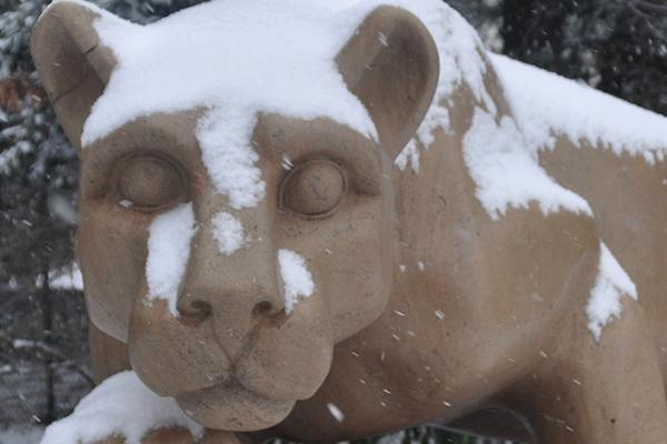 Lion Shrine snow