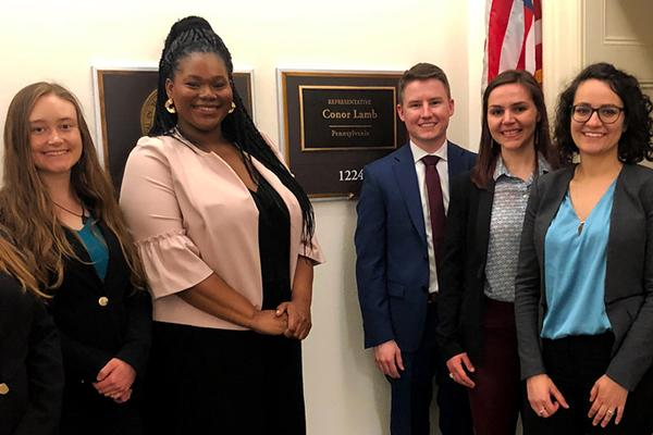 Penn State graduate students and members of the Science Policy Society recently visited congressional offices in Washington, D.C