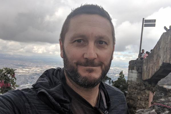 Dave Yoxtheimer pictured atop in Monserrate, Bogota, Colombia.