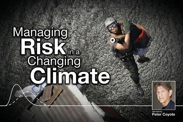 "Poster of the WPSU documentary ""Managing Risk in a Changing Climate"""