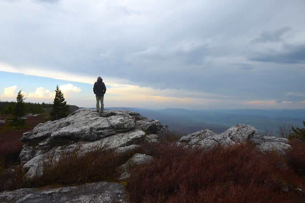 Mike Hermann visits Bear Rocks Preserve at Dolly Sods, Monongahela National Forest, West Virginia