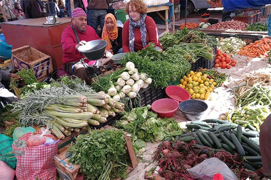 Penn State geography researcher Bronwen Powell is studying food markets in Morocco