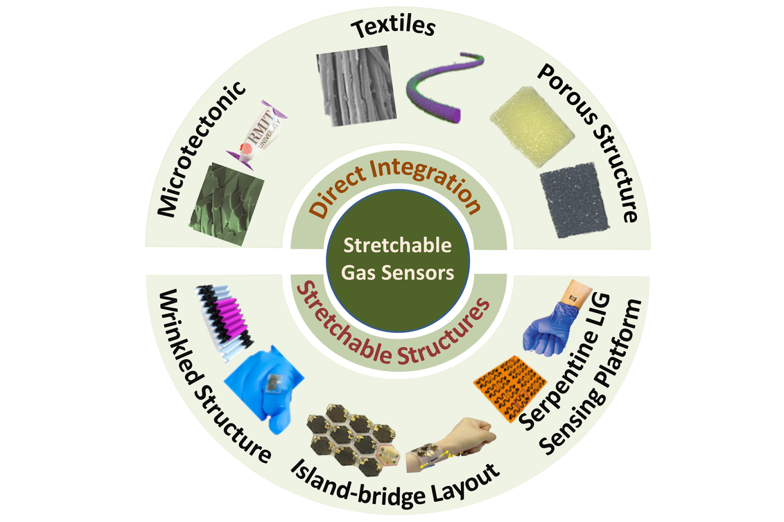 A Penn State research team is exploring materials to help in the advancement of stretchable, wearable gas sensors.