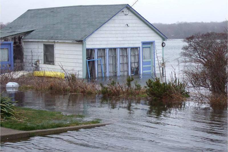 House in Rhode Island in the midst of a flood in 2007