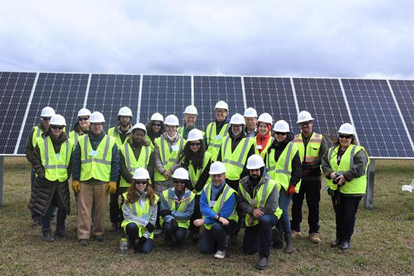 The first LandscapeU cohort visited the solar farm in Franklin County that will provide Penn State with clean energy.