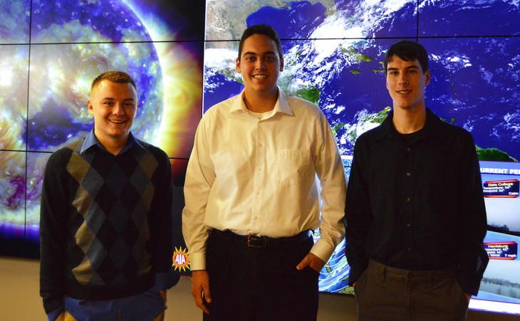 Jacob DeFlitch, left, Ben Reppert and Steve Hallett