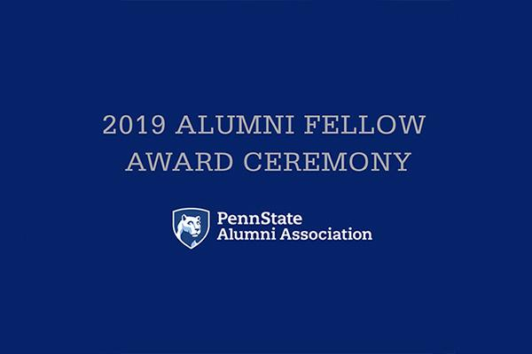 The Penn State Alumni Association will honor 16 Penn Staters on Oct. 23 with the Alumni Fellow Award
