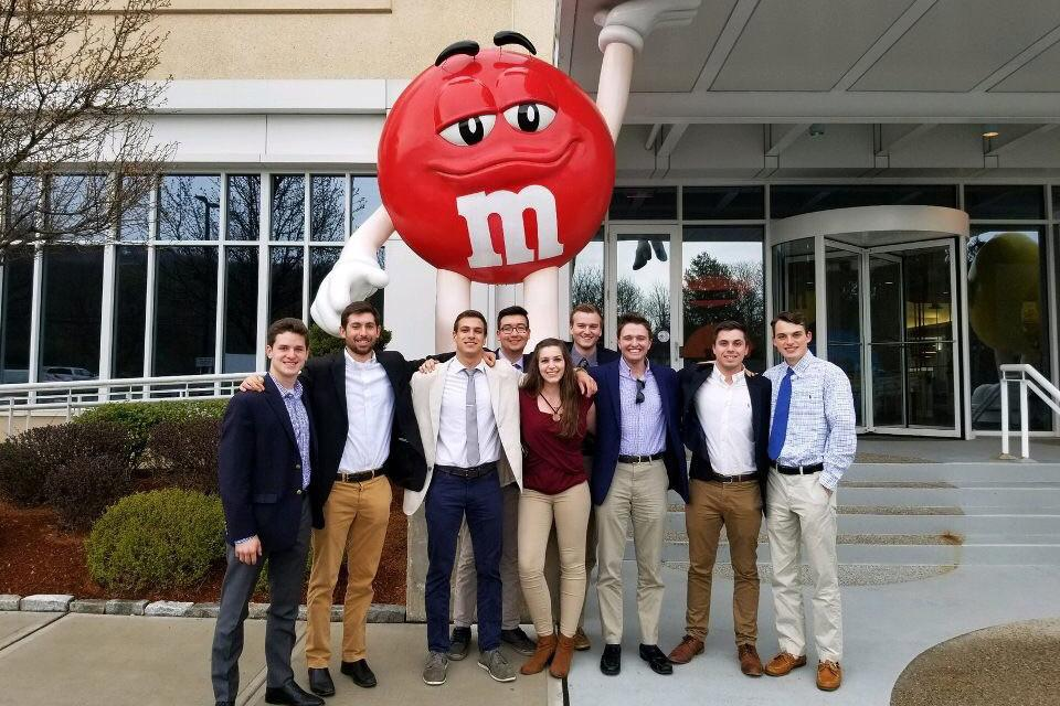 Penn State's Weather Risk Management Club visited Mars candy in fall 2019.