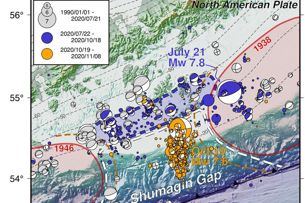 Earthquakes in Shumagin Gap region
