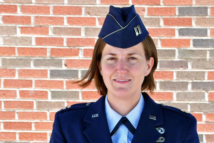 Penn State World Campus graduate and Air Force reservist Lauren Maloney