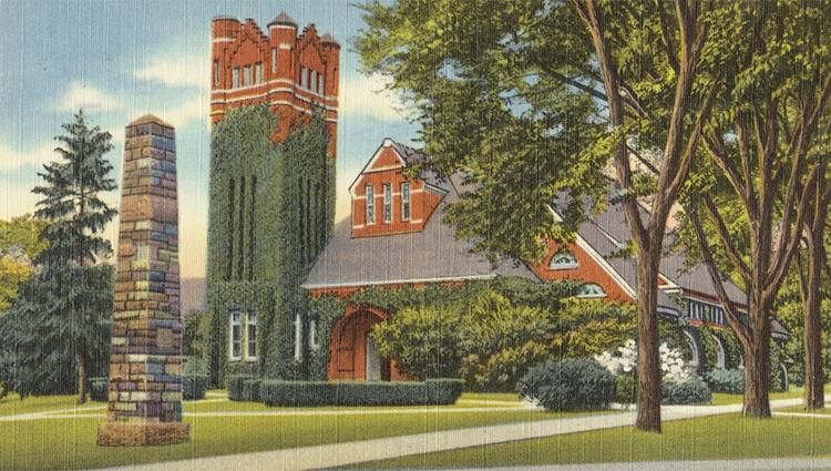 Postcard: Obelisk and Armory