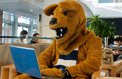 Nittany Lion on computer